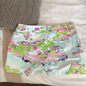 crown & ivy Shorts - Crown & Ivy Town Print Shorts
